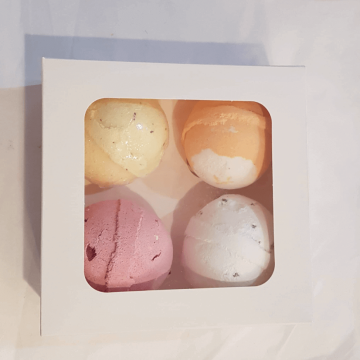 4 Handmade Bath Bombs