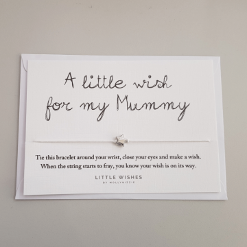 A Little Wish For My Mummy string charm bracelet