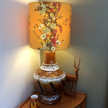 Yellow FRENCH  Shabby Chic Floral Vintage Fabric 30cm Pendent WittyDawn Lampshade