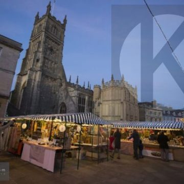Cirencester market at dusk - digital high res photo file