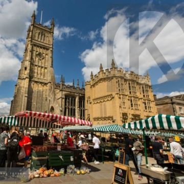 Cirencester on market day - digital high res photo file