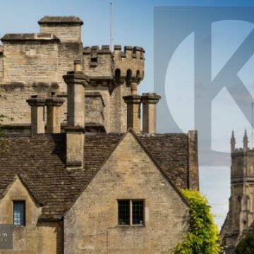 Cecily Hill and the Parish Church Cirencester - digital high res photo file
