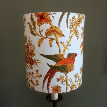 Spice Island BIRD Jonelle Vintage Fabric Lampshade - Green and Orange