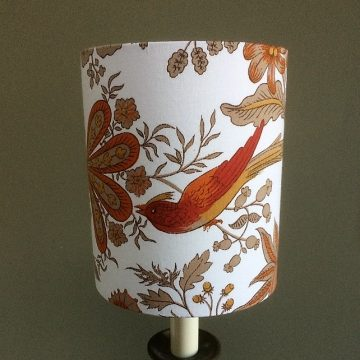 Spice Island Jonelle Vintage Fabric Lampshade - Brown and Orange Small