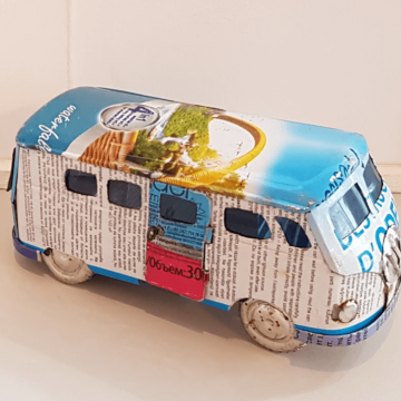 Recycled can campervan
