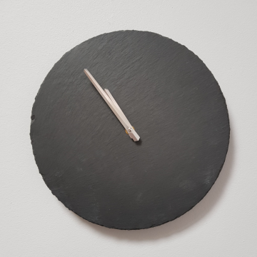 Natural Slate Round Wall Clock