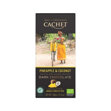 Cachet Pineapple and Coconut Chocolate Bar