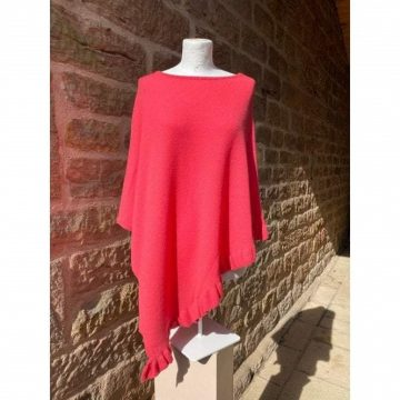 Frilled Poncho Coral