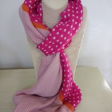 Dotty Pink Scarf