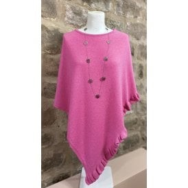 Frilled Poncho Wild Rose
