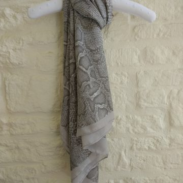 Grey Pearly Snake Scarf