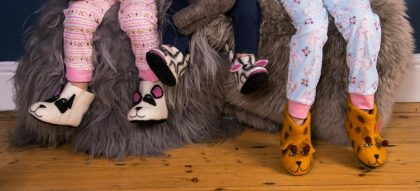 Felted Animal Booties And Slippers