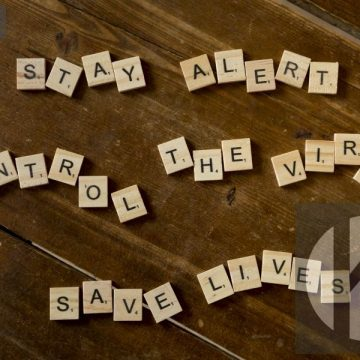 Stay alert, control the virus, save lives - digital high res photo file