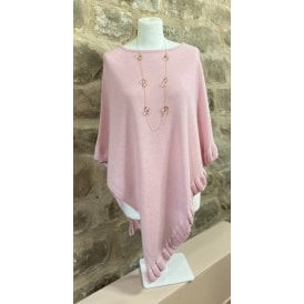 Frilled Poncho Blush