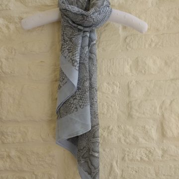 Light Blue Pearly Snake Scarf