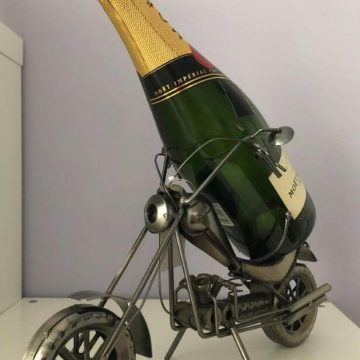Recycled Metal Motorbike Bottle Holder