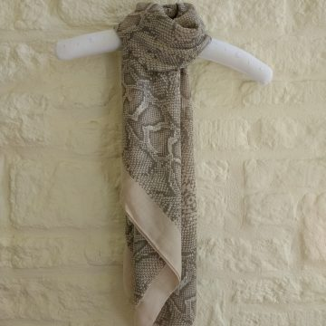 Natural Pearly Snake Scarf