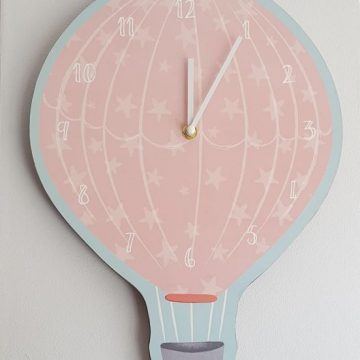 Children's Hot Air Balloon Wall Clock