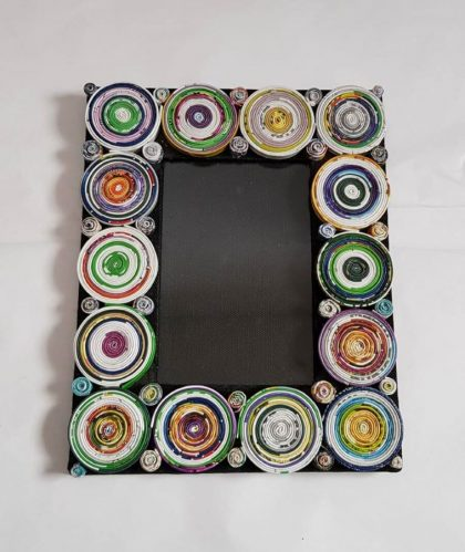 Recycled Paper Circle Photo Frame