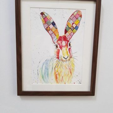 Harriet Hare Original Art Print