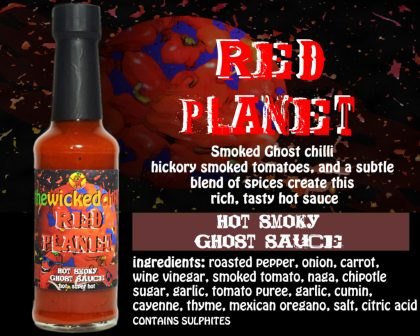 Red Planet hot smokey ghost sauce. Extra hot
