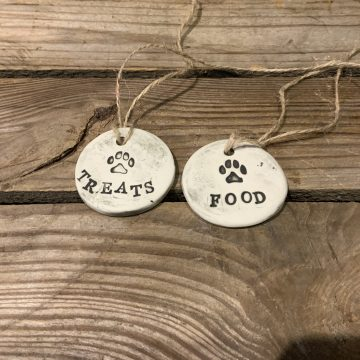 Ceramic handmade rustic jar tags