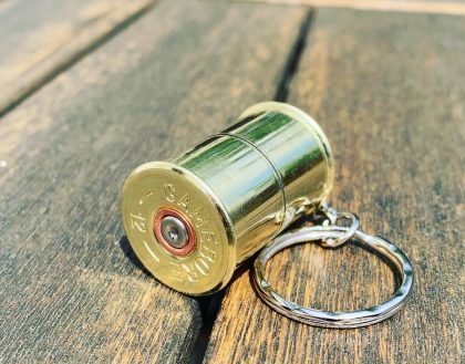 12 gauge cartridge keyring