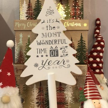 Christmas Tree Shaped Wooden Sign