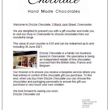 Chocolate Gift Voucher