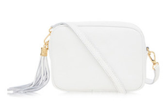 Classic White Leather Bag