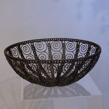 Recycled Bike Chain and Metal Bowl