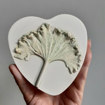 Leaf Heart - Botanical Plaster Wall Art