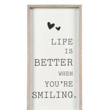 """Life is better"" Wooden Sign"