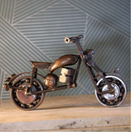 Recycled Motorbike Ornament